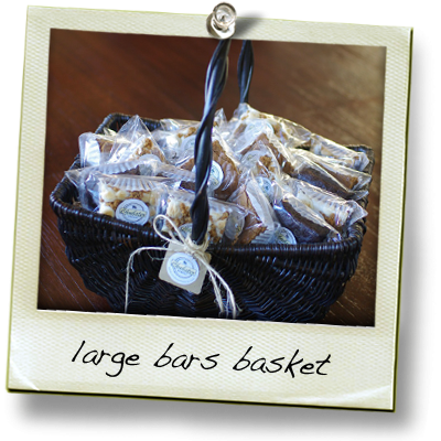 large basket of bars