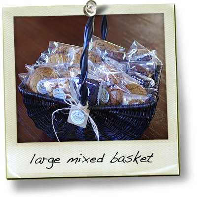 large basket of bars and cookies