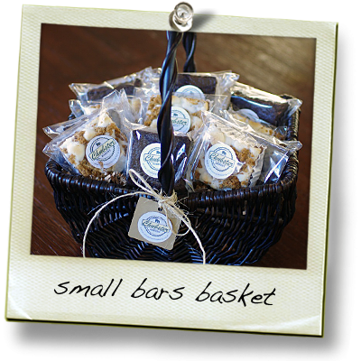 small basket of bars