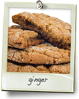 Ginger Cookies Menu