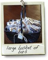 large basket of bars