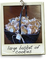 large basket of cookies