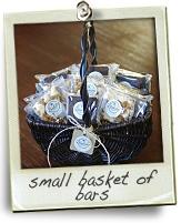 small basket of bars