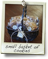 small basket cookies