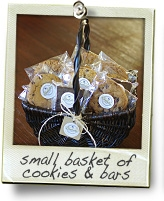 small basket of bars and cookies